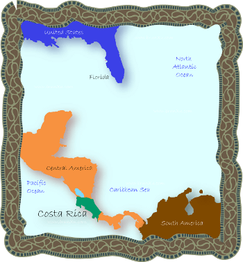 Central America Costa Rica Where is Costa Rica Located